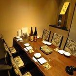 完全個室席多数ご用意!少人数から大人数のご宴会まで対応可能!
