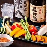 コース単品 10種の彩り野菜のバーニャカウダ