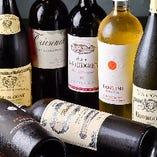 シャンパン、赤、白と豊富な品揃え
