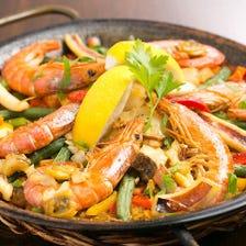 見た目も鮮やかな本場スペイン料理