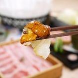 旬の魚を濃厚ウニ醤油で