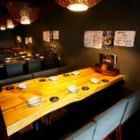 【4〜12名様】『テーブル席』宴会向き! 木の温もりを感じる落ち着いた雰囲気