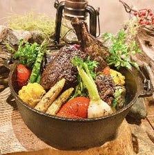 素材の味わい引き立つ豪快な名物料理