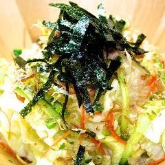レタスと小ねぎの和風サラダ