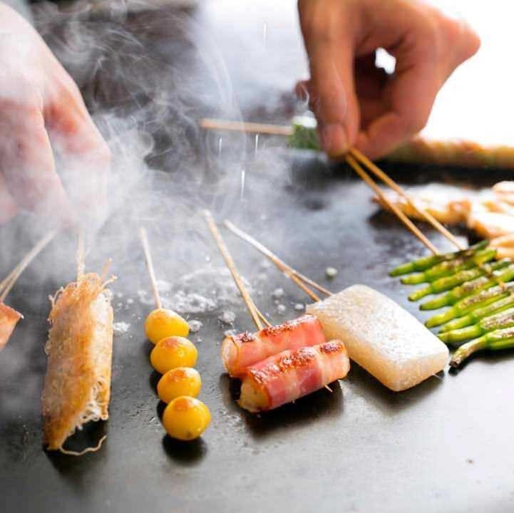 オリーブオイルで焼く創作串が全47種
