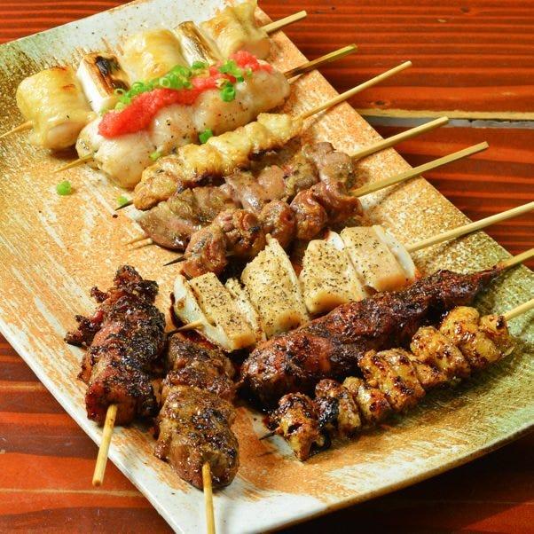 美味しい串がてんこ盛りの串盛り!