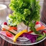 【新鮮食材】 毎朝仕入れる産地直送の野菜をバーニャカウダで!