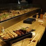 静岡県産食材をふんだんに使用した串物