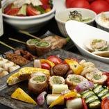 静岡県の旬の食材をふんだんに盛り込んだコース
