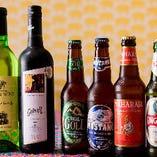 インドやネパール産のビールを6種、インドワインも取揃え