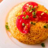 インド米の野菜の炊き込みご飯。塩、スパイス、ロースワタ入り