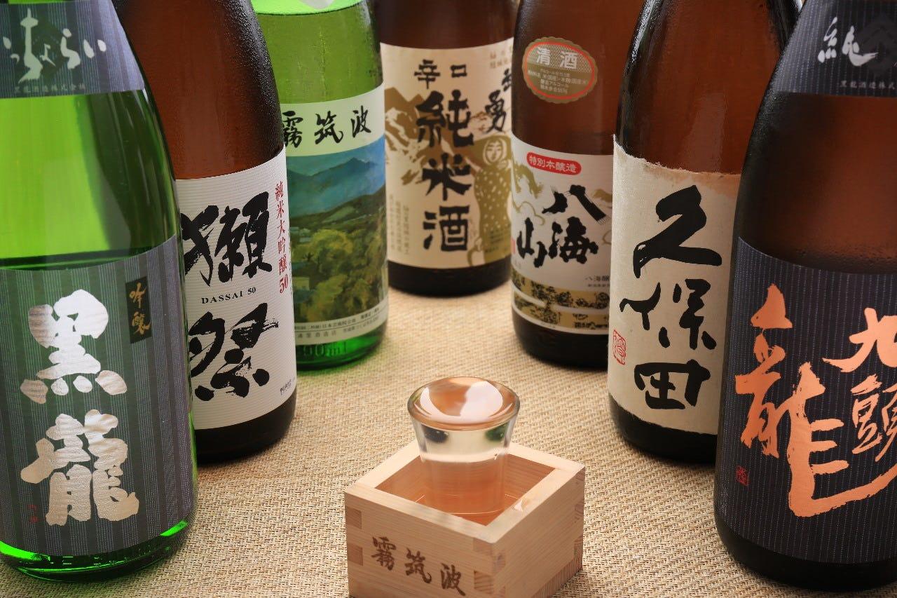 飲み放題でも楽しめる人気の日本酒。日本酒イベントも開催中!