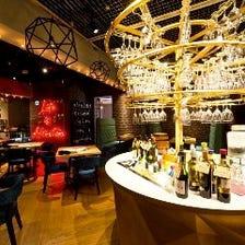 ◆100種類のワインビュッフェ
