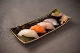 お任せ握り・5貫寿司