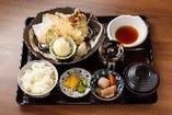 海老と彩り野菜の天婦羅定食