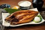 金華サバの開き定食