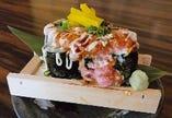 とろとろネギトロ炙りのっけ盛り寿司