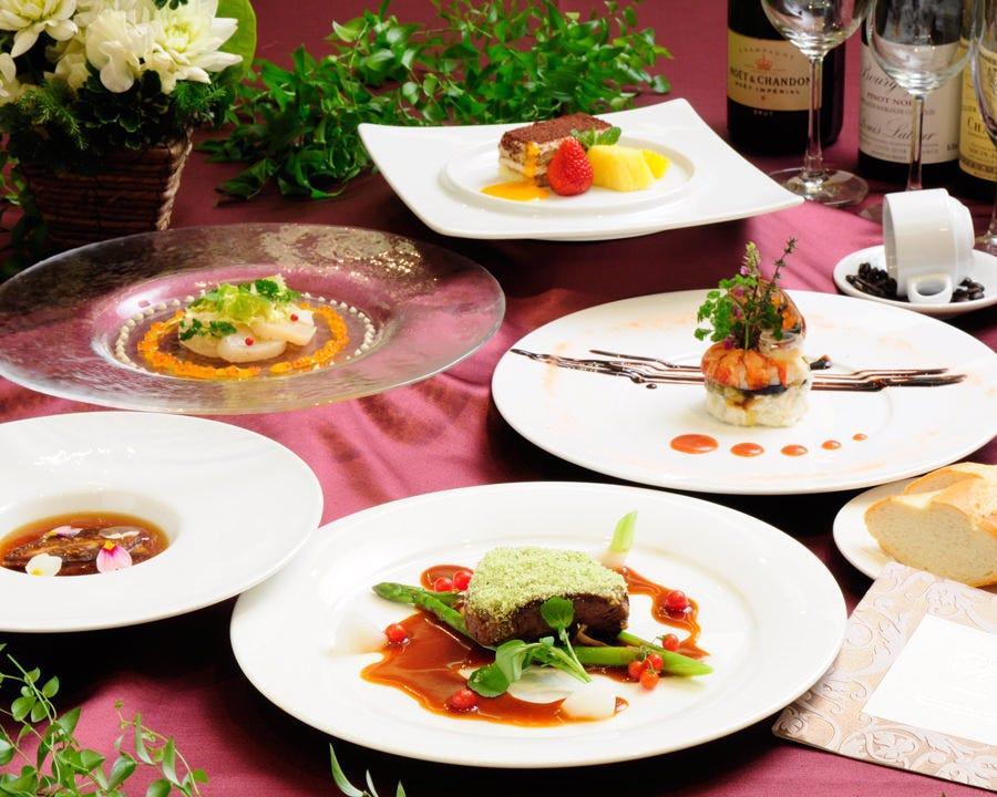 <フレンチフルコース> 四季折々の食材を活かした一皿と共に宴会・パーティを!9,680円(税+サービス料込)