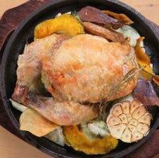 バジルマッシュポテトと雛鶏のオーブン焼き