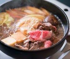 松阪牛の代表的メニュー すき焼き
