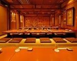 上野市場 本店の個室は最大70名様まで宴会OKです。