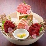 [馬刺しも自慢♪] 生肉好き必見!約10種類の生馬肉料理をご用意!