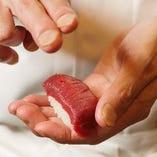 ネタが肉の寿司、それが「肉寿司」