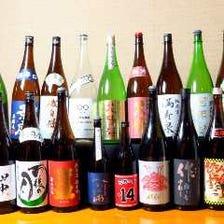 限定酒や希少な日本酒も多数・・。