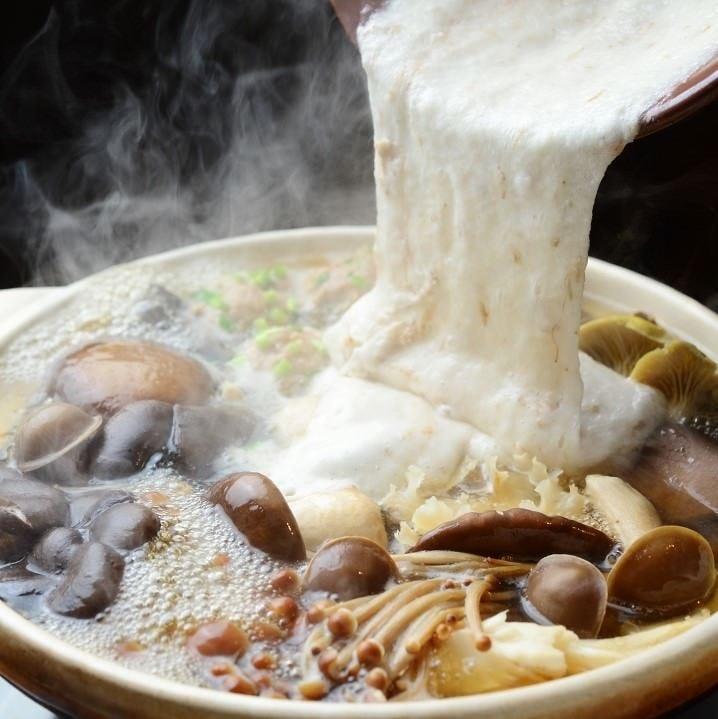 自然薯きのこ鍋1人前1800円