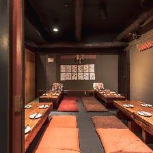 昭和の雰囲気漂う広々半個室