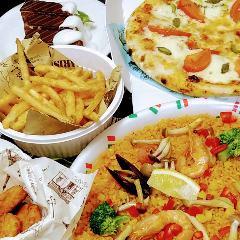 【テイクアウト】パエリアとピザでミニパーティー!