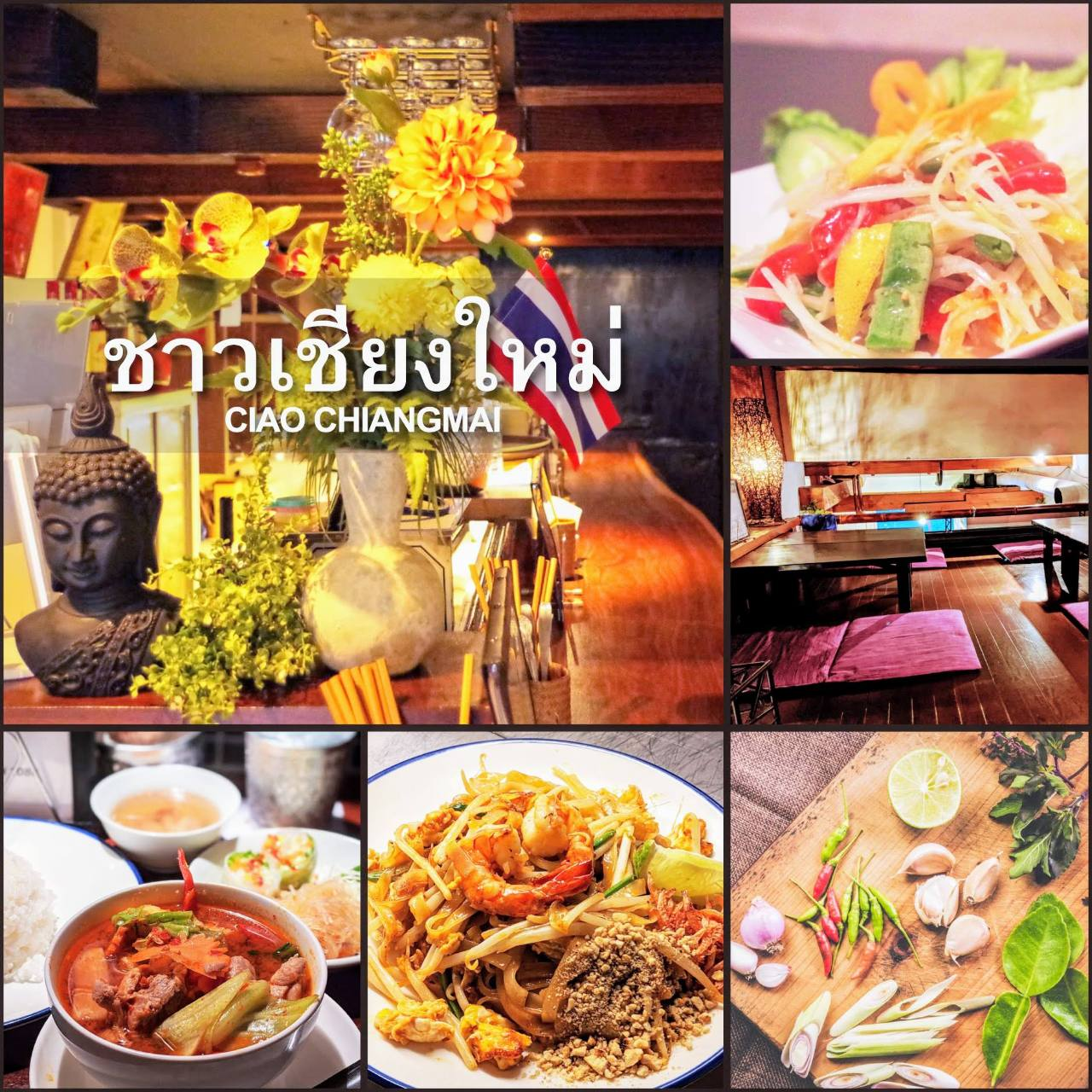 熟練の料理人による本格タイ料理