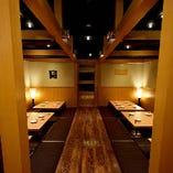 宴会個室は97名様までご案内可能です