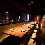 【大宮×夜景】 夜景が一望できるお席も完備!開放感抜群です。