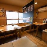 テーブル半個室【4~6名様×2卓】つなげて最大12名様でご利用可能