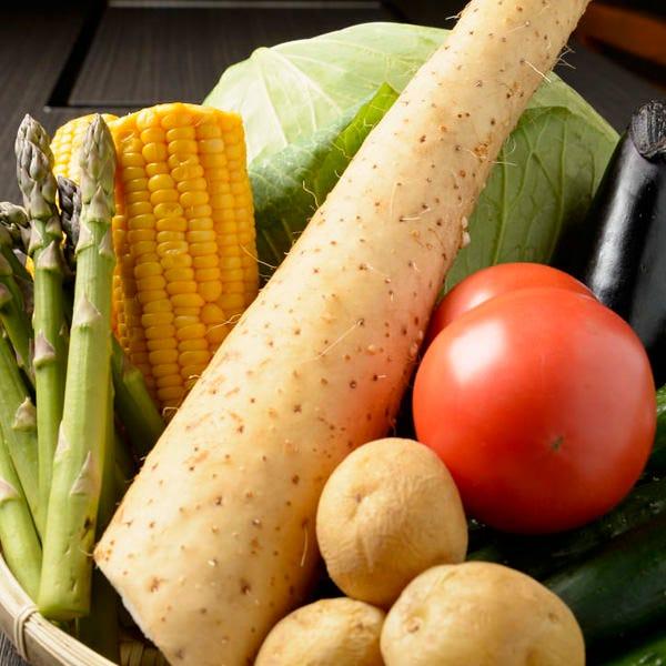 新鮮野菜にもこだわってるので野菜串がおいしい!