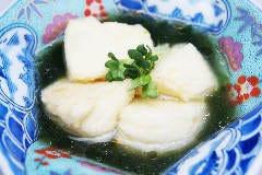 漁師風生海苔の揚げ出し豆腐