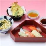 寿司天ぷら御膳
