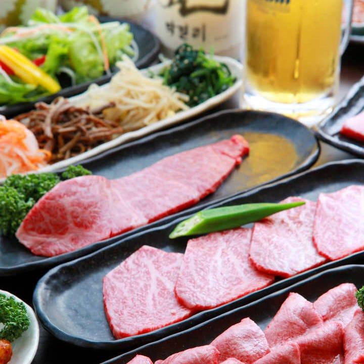 焼肉宴会で至福の時間を…♪やっぱりコース料理はお得です!