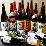 日本酒は、地酒や季節限定酒を中心に取り揃えました