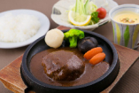 山形牛入りハンバーグ定食(数量限定) (デミグラスソース)