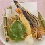 沖縄産 車海老と季節野菜の天ぷら