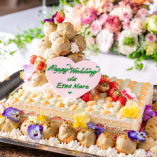 専属パティシエが作るウエディングケーキ
