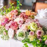 装花のご手配も可能です