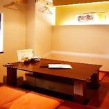 <最大10名様迄>親しい間柄同士でのご宴会やビジネスの場にも最適の掘りごたつの個室