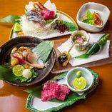 旬の魚も自慢の肉も贅沢に味わえる「しんどふにコース」をご用意