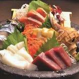 道産の新鮮な魚を使ったお刺身【北海道】