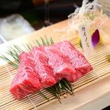 【ステーキ】カイノミ バラの一部でヒレ肉の近くにあるお肉です。1頭の牛から左右一対のブロックしか取れないので非常に希少な部分です。
