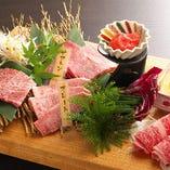 希少部位赤身約5種の盛り合わせ。当店自慢の肉をご堪能ください