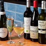 デイリーから特別な日の1本まで◎ワインの品揃えも豊富です